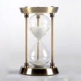 Metalen zandloper timer decoratie creatieve verjaardag relatiegeschenk goud 15 minuten