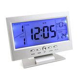 Horloge de table numérique Snooze calendrier alarme de température LCD Rétroéclairage