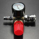 140PSI 1/4 Inch Air Pressure Regulator Relief with Gauge Hose Quick Release Compressor Fitting