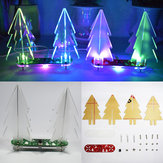 Geekcreit® DIY Full Color Verandering LED Acryl 3D Kerstboom Elektronische Learning Kit