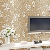 10M Concave-convex Wallpapers 3D Embossed Geweven Non-woven Flocking Wall Paper Rolls