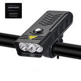 XANES® LV-F004 3 / 5xT6 bicicleta farol USB bicicleta MTB recarregável LED lâmpada frontal 4 modos lanterna à prova d'água Power Bank