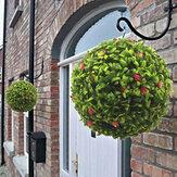Artificial Planta Partes Folhagem Bola de grama verde Pom Poms Garden Home Decor
