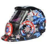 Solar Welder Masker Helm Electrowelding Automatisch Verduisterende Lashelm Gezagvoerder Amerika Pattern