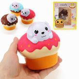Xinda Squishy Dog Puppy Puff Cake 10cm Slow Rising With Packaging Collection Gift Soft Toy