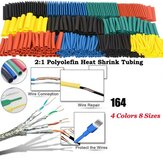 164Pcs Polyolefin Shrinking Assorted Heat Shrink Tube Wire Cable Geïsoleerde Sleeving Tubing Set