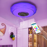 Dimmable 120W 3D Effect LED Ceiling Light bluetooth Speaker Lamp APP Remote Smart Ceiling Lamp
