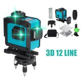 12 Line Green Лазер Уровень Самонивелирующийся поворотный крест 360 ° Auto & Дистанционное Управление