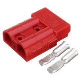 Excellway 50A 8AWG Batería Quick Conector Enchufe, conexión, terminal, desconexión, malacate, remolque, rojo