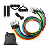 11pcs Portable Exercise Resistance Bands Set Fitness Exercises Workout Bands with Door Anchor Handles Ankle Straps