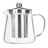 Bule de vidro Jarro transparente resistente ao calor com infusor Coffee Tea Pot 450/550 / 750ML