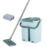 360 ° Flat Squeeze Cleaning Mop Bucket Almohadillas para trapeador de microfibra autolavables Uso en seco y húmedo