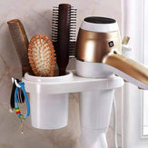 Hair Dryer Rack Comb Holder Bathroom Storage Organizer