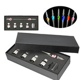 Crystal Glass Dip Pen Set Glass Sign Pen Non-carbon Ink Fountain Signature Writing with Gift Box