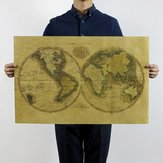 Styl Vintage Retro Kraft Paper Plakat Home Dekoracje Old World Map