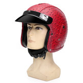 DOT 3/4 Visage Moto Moto Casque Scooter Équitation Protection Visor ML XL