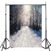 1.5x2.1m Christmas Forest Snow Background Vinyl Studio Backdrop