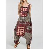 المرأة العرقية طباعة القطن عموما جيوب الحريم رومبير