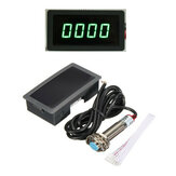 4 Digital Green LED Tacômetro RPM Speed Meter + Interruptor de proximidade Sensor NPN