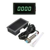 4 Dijital Yeşil LED Takometre RPM Hız Ölçer + Yakınlık Anahtarı Sensör NPN