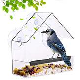 庭の庭の装飾のためのプラスチック透明な鳥の野生のインコフィーダー鳥吊り餌ツール
