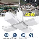 AC85-265V E27 40W plegable de cuatro hojas LED Lámpara Bombilla uniforme de deformación doméstica Iluminación interior