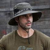 Chapéus de verão UPF50 + à prova de raios ultravioleta respirável chapéu grande aba larga caminhada pesca ao ar livre Praia Chapéus de vaqueiro novos chapéus de sol de verão para homens