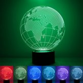 3D Earth Globe Night Light 7 Color Changing USB LED Table Lamp Home Decor