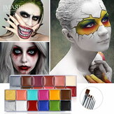IMAGIC 12 Colors Flash Tattoo Face Body Paint Oil Painting Art use in Halloween Party Fancy Dress Beauty Makeup Tool