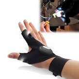 ZANLURE Multifunctionele EDC Fishing Fingerless Glove LED Reparatie Zaklamp Overleving Outdooors Rescue Tool
