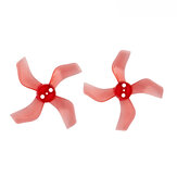 4 Pairs Gemfan 1636 1.6x3.6x4 40mm 1.5mm Hole 4-blade Propeller for 1103 1105 RC Drone FPV Racing Brushless Motor