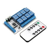 IR23F08 8 Channels DC 5V 12V Multifunctional Delay Relay Module Trigger Locking Bistable Self-locking