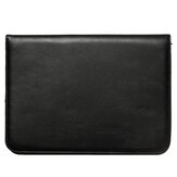 Business Briefcase Bag PU Leather Black Document File Holder Card Holder Office Handbag for Men