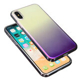 Color Gradient Shockproof Transparent Hard PC Case Cover for iPhone X