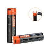 Nicron NRB-L750 750mAh/3.7V USB Rechargeable 14500 Protected Li-ion Battery with LED Indicator