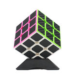 Classic Magic Cube Speelgoed 3x3x3 PVC Sticker Blokpuzzel Snelheid Cube Vezel Carbon