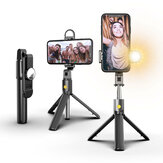 ENKAY K10S Wirleless bluetooth Selfie Stick Fill Light Foldable Tripod Selfie Stick Remote Control Phone Live Stand