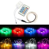 12V 10M 100LED Silver Wire Christmas String Fairy Light Remote Controller without Adapter