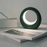 Abajur em forma de lua Mini LED Alarme eletrônico digital Relógio Abajur multifuncional para presentes de aniversário de cabeceira