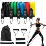 11 stks / set 150lbs Latex Weerstand Bands Home Gym Training Oefening Pull Rope Expander Fitnessapparatuur