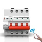 Tongou TOWSM1-100 4P 16-100A WIFI Circuit Breaker with Overload and Overvoltage Protection Intelligent Wireless Switch