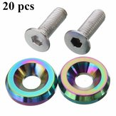20PCS Billet Aluminum Fender Bumper Washer Engine Bay Dress Up Kit Neo Chrome