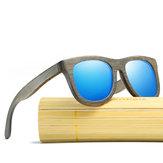 Gafas de sol de madera de bambú naturales hechas a mano de madera Gafas polarizadas UV400 para hombres Mujer