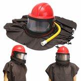 Abrasivo Shot Blast Cleaning Helmet Kit de tubulação de ferramentas de pano de proteção de jateamento de areia