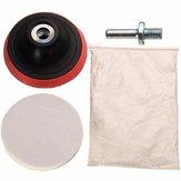 Carro polimento kit cerium óxido de polimento em pó sentiu polimento roda almofada broca adaptador
