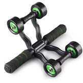 Sports Fitness Four-Wheels Power Roller Abdomen Exercise Wheels Equipment Muscle Strength Training