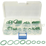 105 stuks 8 Grootte HNBR Green Car Lucht Conditie O Ringen Seal Seal Ring Gaskets Repair Tool Kit Box