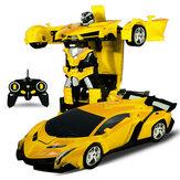 Rastar 2 In 1 Rc Auto Sport Draadloze Robot Modellen Vervorming Vechten Kinderen Kinderen Speelgoed