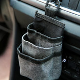 Oxford Car Air Vent Storage Bag Sundries Storage Bucket Hanging Pocket Pouch