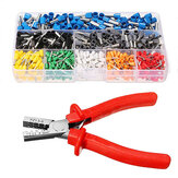 Excellway® EC02 800Pcs Isolert Wire Connector Terminal Ledning Pin End Terminal Med Crimper Plier